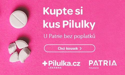 Pilulka.cz Patria IPO akcie burza farmacie lékárna technologie inovace